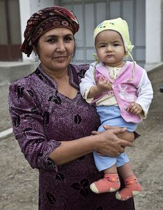 Mother and child in Uzbekistan