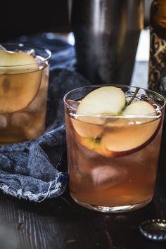 Cranberry Apple Cider Cocktail - Hard Cider, Vodka, Orange Juice, Cranberry Juice, Apple
