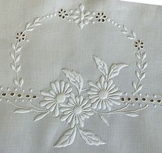 White on White Embroidery • Marguerite