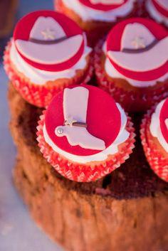 Cowboy party cupcakes