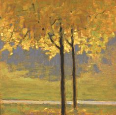 Twin Maples With Golden Foliage   Rick Stevens