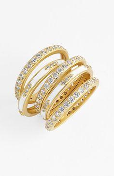 Women's Freida Rothman 'Metropolitan' Pave Band Rings (Set