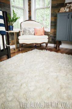 Szőrme szőnyeg házilag, gyorsan.