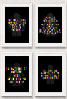 Lego Movie Quote Posters  Full Set by ThePerfectPrintables on Etsy