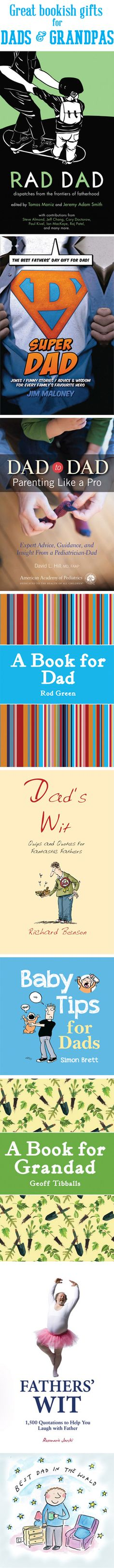 Give Dad or Grandpa something special this Father's Day: Books! #FathersDayGifts