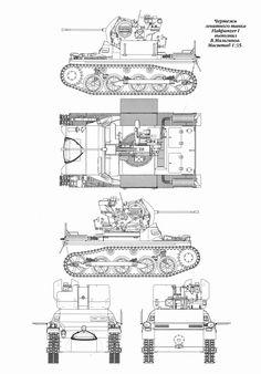 Flakpanzer I Blueprint - Download free blueprint for 3D modeling