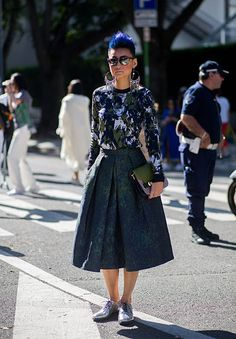 Esther Quek wears Jason Wu and Santonio shoes during Milan Fashion Week Spring/Summer 16 on September 25 2015 in Milan Italy