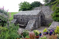 St Trillo's Chapel is on the site of a pre-Christian, sacred holy well, the altar is built directly over the pure water of the well. Saint Trillo, the son of Ithel Hael from Llydaw (Snowdonia) also founded a church at. Anglesey, Snowdonia, Cymru, North Wales, Pilgrimage, Garden Bridge, Altar, Castles, Holi