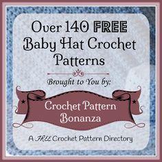Crochet Baby Hats ~ FREE Crochet Patterns: http://crochetpatternbonanza.com/category/baby-hats/