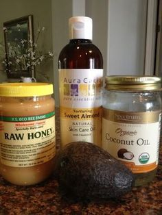 Secret to great skin!! brighter face and quick acne fix!! you'll never go back to unnatural products after this..  Quick and Easy Avocado, Coconut Oil, Honey and Almond Oil Moisturizing Facial Mask by tamika