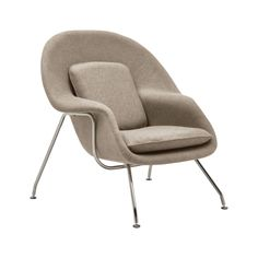 new-womb-chair-beige-profile Room Ideas Bedroom, Room Decor, Bedroom Reading Chair, Side Chairs, Lounge Chairs, Desk Chairs, Airbnb Design, Womb Chair, First Apartment Decorating