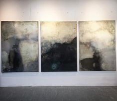"""Triptych """"I fall apart"""" 300x140cm #mixedmedia #canvas #art #abstract #painting #studio #exhibition #gallery #London #structure"""