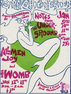 1/9-13/ 1968 .... Straight Theater ....   Allmen Joy .....  The Womb .....   artist ...... TERRE