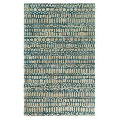 Abin Affinity Area Rug - Denim, Cream - (5' x 7'6) - Surya, Black Denim