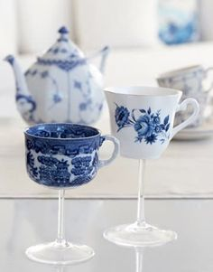 How To: DIY Teacup Wineglasses | Apartment Therapy