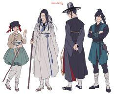 트위터 Korean Traditional, Traditional Dresses, Character Concept, Character Art, Korean Hanbok, Korean Art, Chinese Clothing, Drawing Clothes, Art Reference Poses