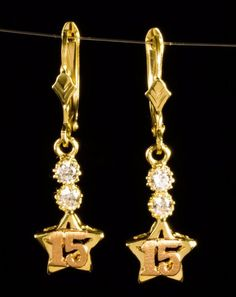10k Gold Girls 15 Quinceanera Pendant Charm & Earrings Set | Jewelry & Watches, Fine Jewelry, Fine Jewelry Sets | eBay!
