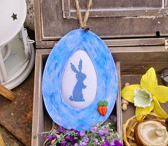 Лавандовый домик: Пасхальный кролик. Мини вышивка