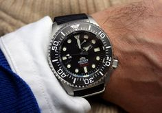 The Orient Pro Saturation Diver - www.orientwatchusa.com/el02002b #orientwatch #diverwatch #watches
