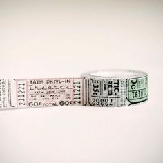 Tissue Tape 20 mm VINTAGE TICKET 16 yards by leboxboutique on Etsy