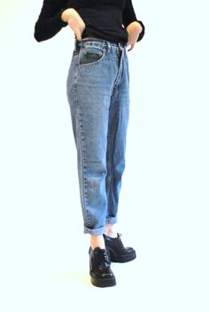 high waisted boyfriend jeans / 80s tapered KILIM by onefortynine