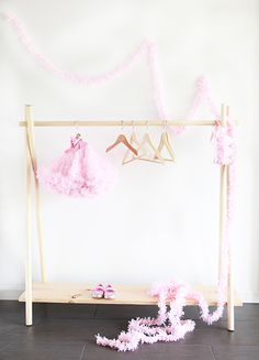 DIY Wooden Clothing Rack in Yes, 10 Minutes I am working like crazy on a flipping space in a flipping room instead of over the flipping house. (I am not bitter They have absolutely nothing to do with every princess dress, doctor, vet, … Wooden Clothes Rack, Diy Clothes Rack, Doll Clothes, Dress Clothes, Girl Room, Baby Room, Kids Clothing Rack, Diy Clothing, Clothing Stores