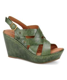 Look what I found on #zulily! Leaf Cataleen Leather Sandal by Børn #zulilyfinds