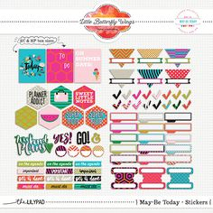 May-Be Today - stickers {add on} - Planner Collection Monthly by Little Butterfly Wings at The Lilypad