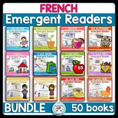 French sight words (mots fréquents) | French Emergent Readers (livrets pour les lecteurs débutants): French reading can be less challenging for primary French Immersion students with the use of the emergent readers in this bundle. These booklets (livrets pour