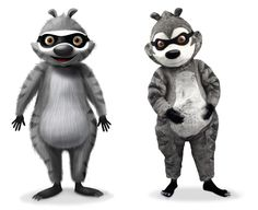 JOHN DAVEY DESIGN STUDIO - FILM & TV- Raccoon Character Suit Design