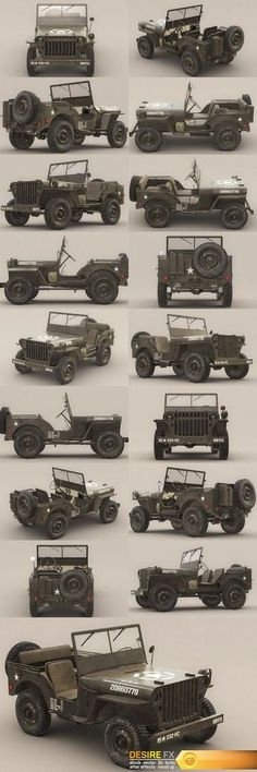 3D Model US Army Willys Jeep – B http://www.desirefx.me/3d-model-us-army-willys-jeep-b/
