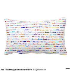 Joe Text Design II Lumbar Pillow