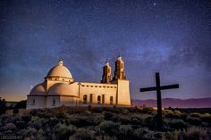 Stations of the Cross Shrine (San Luis, Colorado). San Luis is the oldest town in Colorado and provided just enough light to brighten up the Stations of the Cross Shrine in this night photo. A faint Milky Way can be seen in the background. Feel free to like, share, or comment. Thank you for looking and for liking Lars Leber Photography!