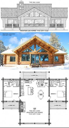 Das San Juan Log Home Kit von Frontier Log Homes. – Das San Juan Log Home Kit v… Das San Juan Log Home Kit von Frontier Log Homes. – Das San Juan Log Home Kit von Frontier Log Homes. Log Cabin Floor Plans, Cabin House Plans, Tiny House Cabin, Log Cabin Homes, Dream House Plans, Small House Plans, House Floor Plans, Small Log Cabin Plans, Loft Floor Plans