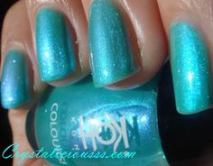 Crystaliciousss: Koh! brights collection blue lagoon swatches & review