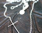 Molly's Sideways Cross Necklace. $35.00, via Etsy.