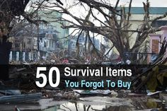 If you're reading this, you probably already know the basics: water, food storage, first aid, etc. But even hardcore survivalists can overlook things. In this post I want to mention 50 survival items you might have forgotten to buy. I already mentioned several of these in the post, Unusual Survival Gear, but this is a much longer list. It's not comprehensive, but hopefully it'll remind you of a few things you still need to get. For everything on this list that you already have, gi...