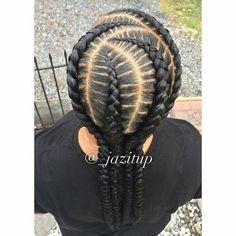 Feed In Braids Hairstyles, Braids Hairstyles Pictures, Braided Bun Hairstyles, Girl Hairstyles, Braided Buns, Black Hairstyles, Little Girl Braids, Girls Braids, Natural Hair Braids