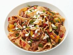 Ratatouille Pasta from FN Dish combines two comfort favorites into one fantastic #MeatlessMonday dinner.