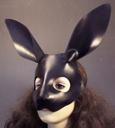Black Rabbit Leather Mask