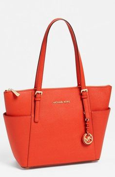 MICHAEL Michael Kors 'Jet Set' Leather Tote available at #Nordstrom