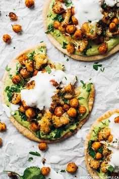Roasted Veggie Pitas with Avocado Dip | Pinch of Yum