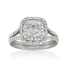 1.75 ct. t.w. Certified Diamond Engagement Ring in Platinum