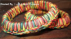 Colors of Ghana Crocheted Pair of Bangles by IonisCreations, $15.00