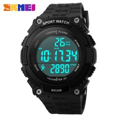 >> Click to Buy << 2016 SKMEI Brand 3D Pedometer Sports Watches Men and Women Fashion Casual LED Digital Watch PU Strap Stopwatch Wristwatches #Affiliate