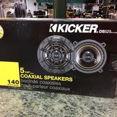 Kicker 5.25 inch car speakers, model DS525, new in the box. #stopandpawn #caraudio #kicker #carspeakers