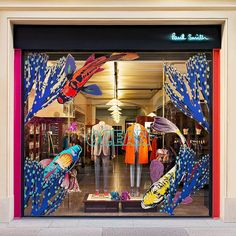 "ТД ГУМ (GUM DEPARTMENT STORE), Moscow, Russia, ""Sea Dwellers, Coral Reefs and the State of Unbridled Happiness... Welcome to The Hawaiian Islands"", for Paul Smith, pinned by Ton van der Veer"