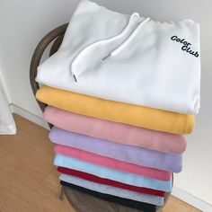 We sell aesthetic, kawaii, pastel, daebak merchandise like clothing and accessories including KPOP items! Casual Outfits, Cute Outfits, Hooded Sweatshirts, Hoodies, Comfy Pants, Kawaii Fashion, Candy Colors, Long Sleeve Crop Top, Aesthetic Clothes