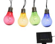 Kerti dekorációk : Napelemes lámpa füzér