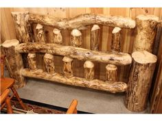 Queen Size Log Bed - 3 Available!